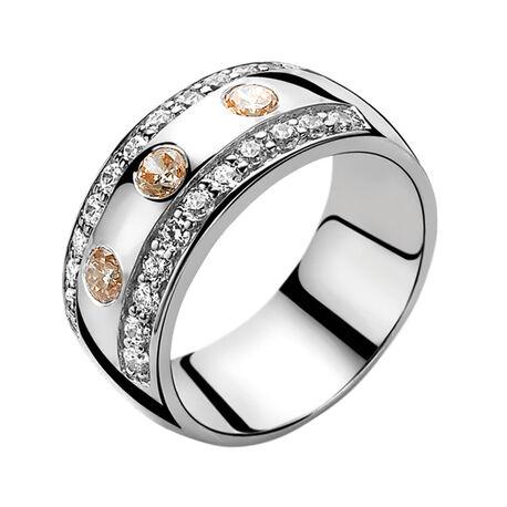 zilveren ring champagne zirconia zir550c zinzi