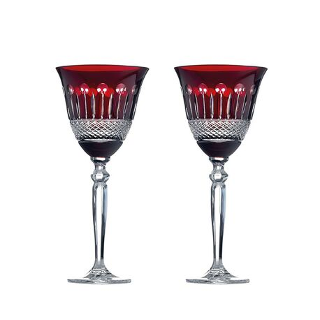 Rode kristallen wijnglazen Maison Tatiana Fabergé