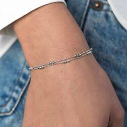 Zilver multi-look bolletjes armband ZIA1908 van Zinzi