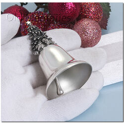 zilveren belletje kerstboom van Raspini