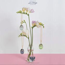 Tatiana Fabergé rosé vergulde zilveren hanger groen agaat Tsars Collectie