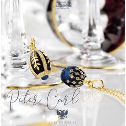 Tsars Collection ei hanger blauw met goud en wit zirkoon