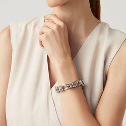 Zilveren schakelarmband van Raspini
