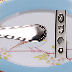 Zilveren vleesvork model dubbelfilet