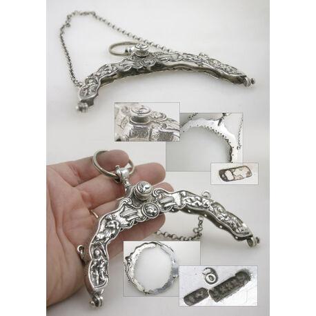Zilveren tasbeugel