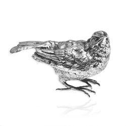 Zilveren musje dichte vleugels tafelstukje