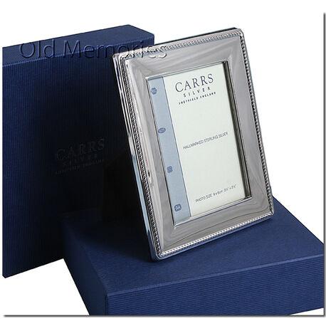 zilveren fotolijst kabelrand 9 x 6 Carrs