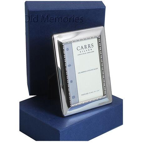 Fotolijst 9x6 zilver Carrs