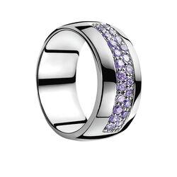 Zilveren ring  paars zirconia ZIR551p Zinzi