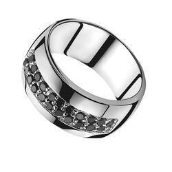 Zinzi Ring Zwart Zirconia Zir551z