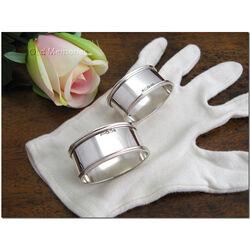 Ovale zilveren servetband klein