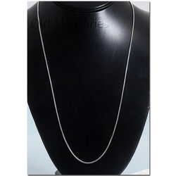 Zilver Slangencollier 60 Cm Lang