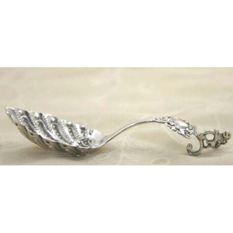 Zilveren natfruitschap annex roomlepel