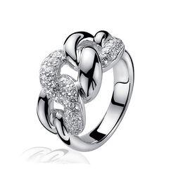 Zinzi Zilveren Ring Gourmet Zirconia Zir414