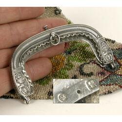 Zilveren tasbeugel antiek