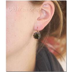 verguld zilveren oorhangers groen
