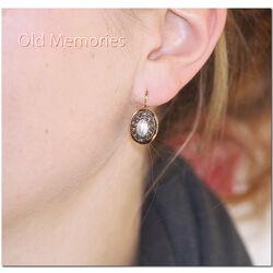 Verguld zilveren oorbellen parel