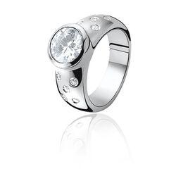 Zinzi Ring Wit Zirkonia Zir575