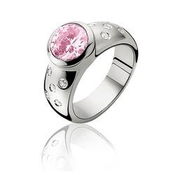Zinzi ring roze wit zirkonia Zir575r