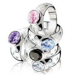 Zinzi ring roze zirconia ZIR575r