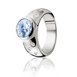Zinzi ring blauw wit zirkonia Zir575b