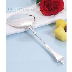 zilveren pasteischep model parelrand