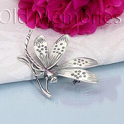 Zilveren Broche Libel