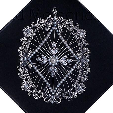 Zilveren hanger pareltjes