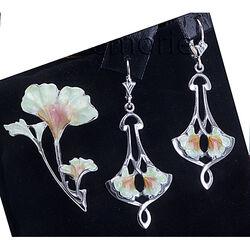 zilveren hanger bloem GL