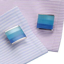 blauwe manchetknopen Carrs