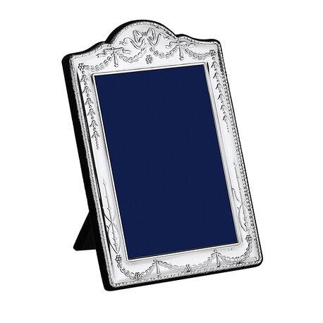 Zilveren fotolijst strikjes guirlandes 13x9 carrs ba06