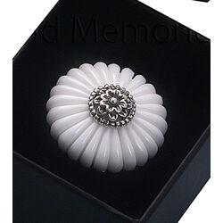 Zilveren ring wit agaat