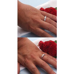 Witgouden ring diamant baguette geslepen
