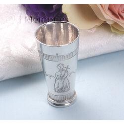 Zilveren vaas vrouw met kruis