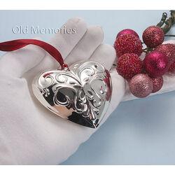Verzilverde hart voor kerstboom