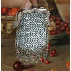 Antiek Zilveren Malienkolderbeursje