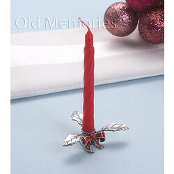 Zilveren kerst kandelaartje miniatuur