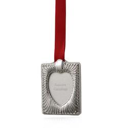 Carrs Zilveren Kerst Fotolijst Hartvorm