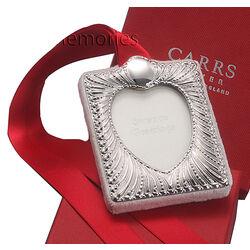 Zilver fotolijst kerst hart Carrs