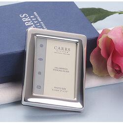 Hangend fotolijstje zilver 5x4 cm Carrs