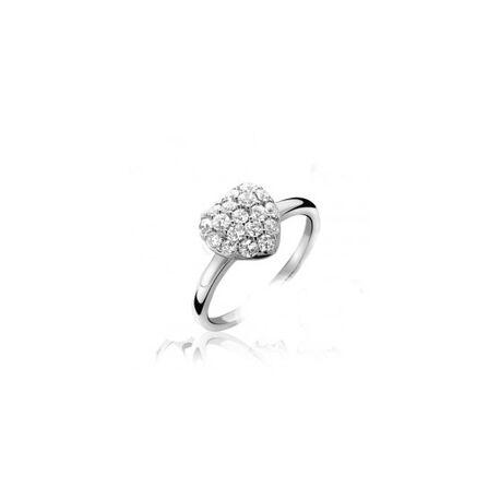 Zilveren ring hart ZINZI Zir613