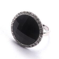 Zinzi ring zwart wit zirkonia Zir628z
