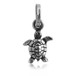 Mini Bedel Zilveren Schildpad