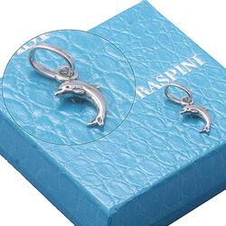 Klein zilver bedeltje dolfijn van Raspini