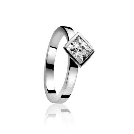 Zilveren Ring Vierkante Zirconia ZIR442