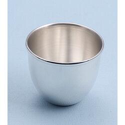 Gladde zilveren eierdop