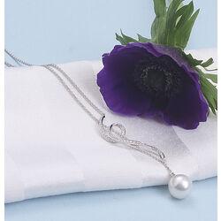 witgouden collier parel en briljant Zilver.nl Juweliers