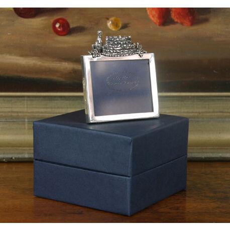 Zilveren fotolijst Feest met taart en glazen
