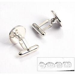 Carrs Zilveren manchetknopen Knoop pn111