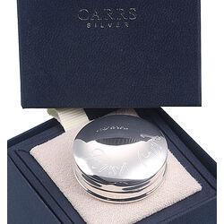 Zilveren haarlokdoosje first curl Carrs nk035